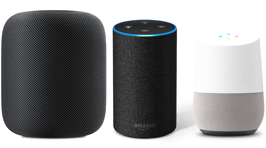 Altavoces inteligentes de Apple, Amazon y Google son los más populares