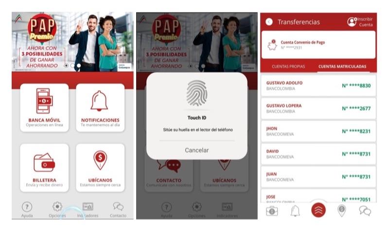 Bancoomeva permitirá enviar y recibir dinero por medio de su app
