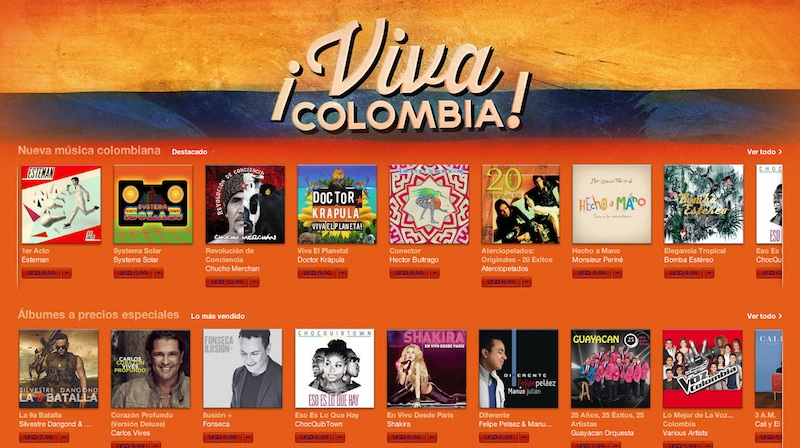 itunes colombia 2013