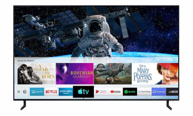 Samsung, primer fabricante de TV en lanzar la aplicación Apple TV y AirPlay 2
